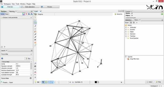 A gentle introduction to network graphs using R and Gephi